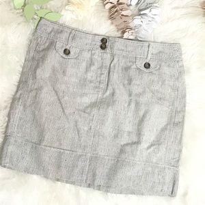 Ann Taylor Loft Pencil Striped Lined Mini skirt